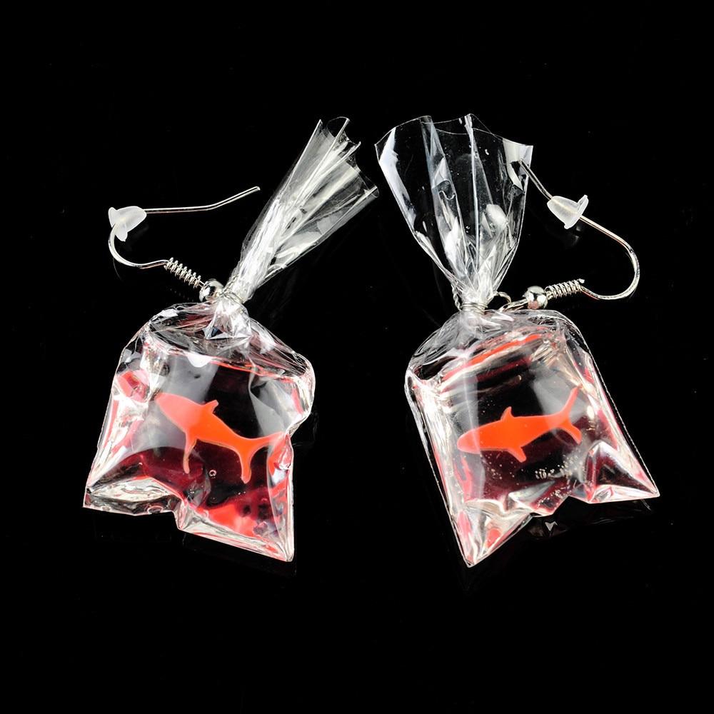 Goldfish Water Bag Earrings 4