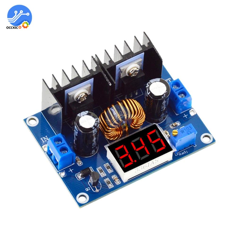 XL4016 200 Вт 8A модуль зарядного устройства 4-36 в до 1,25-36 в понижающий преобразователь ШИМ Регулируемая Зарядка питания с светодиодный цифровым д...