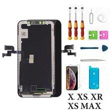Display LCD di ricambio Dello Schermo Per il iphone XR XsMax Lcd Touch Display del Pannello Dello Schermo Digitizer Assembly con Gli Strumenti Per iPhoneX Xs