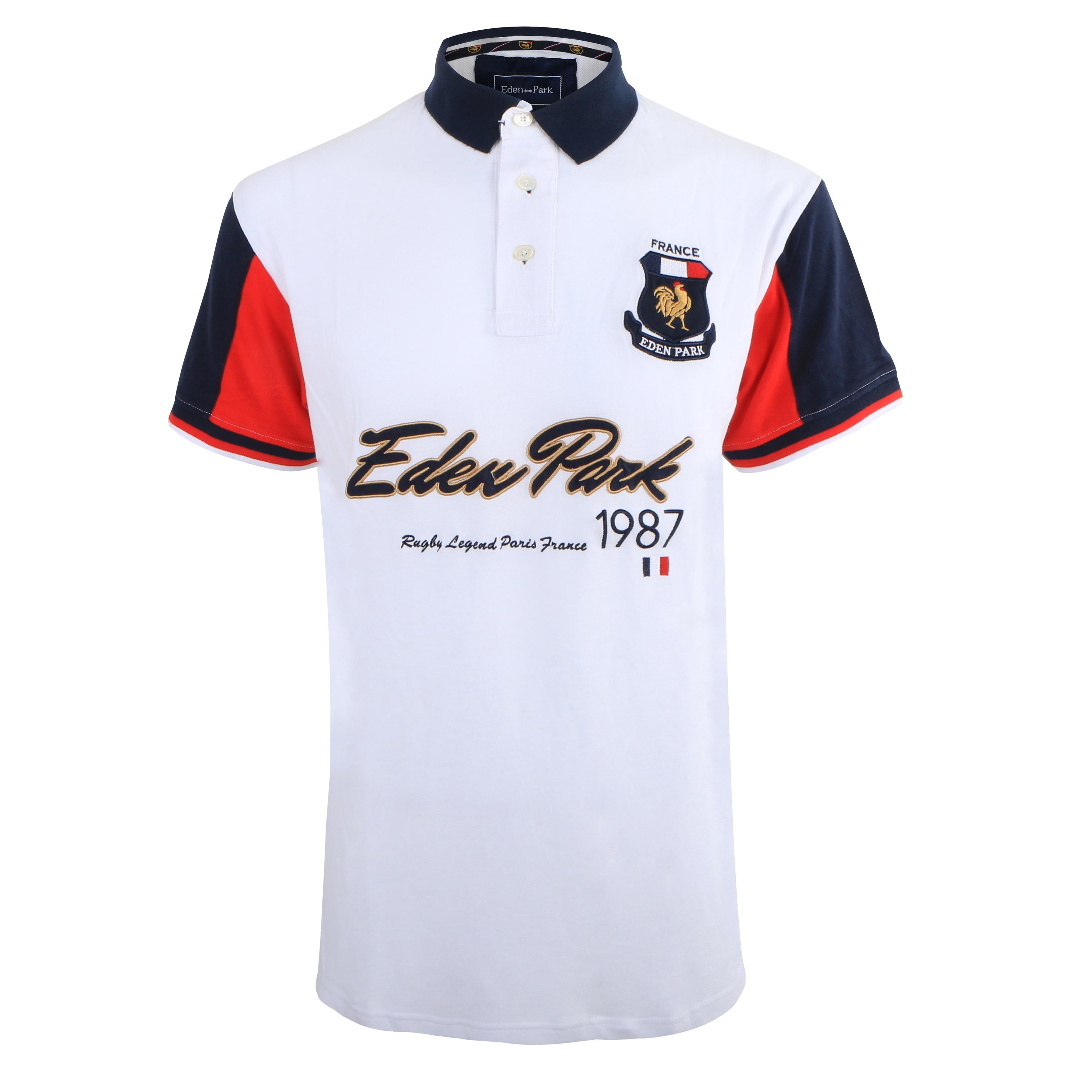 Haute qualité Polo EDEN PARK 1987 nouveau hommes d'été à manches courtes Patchwork hommes Polo chemise supérieure en coton matériel anti-boulochage