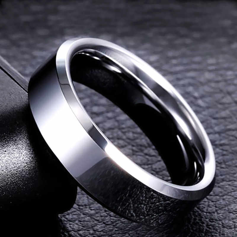 Men Black Ring Titanium Stainless Lover Couple Rings For Women Silver  Gold Vintage Cool Rings 316L High Quality Jewelry