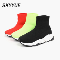 Spring Kids High Top Sport Sneakers Toddler Boys Slip On Casual Sneakers Baby Girls Sock Shoes Children Sneakers Trainers New