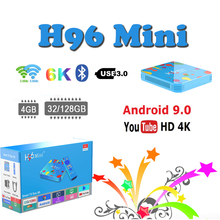 Newest Set-Top-Box 4GB 128GB H96 mini android 9.0  tv box Allwinner H6 Quad Core 6K H.265 support smart iptv subscription