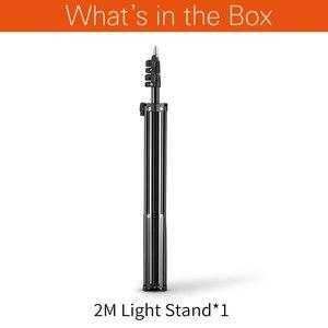 Image 2 - 2M 1/4 Screw Light Stand Tripod For Photo Studio Softbox Video Flash Umbrellas Reflector Lighting Bakcground Stand