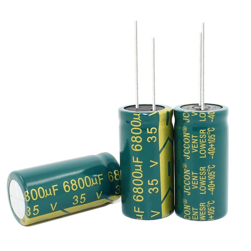 10PCS--100PCS/lot 35V 6800UF 18*35MM High Frequency Low Impedance Aluminum Electrolytic Capacitor 6800uf 35v
