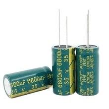 Condensateur électrolytique en aluminium, haute fréquence, basse impédance, 35V, 6800UF, 18x35MM, 6800uf, lot