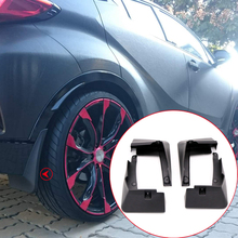 ITrims Car Styling Accessories Exterior Mud Flaps Splash Guard 4PCS for Toyota C-HR CHR 2016 2017 2018 2019