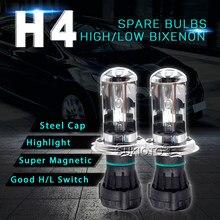 SUKIOTO AC 12V Bixenon H4 HID Xenon Lamp Bulbs 35W 55W H4-3 Hi/Lo Beam Car Headlight Replacement Bulb 4300K 5000K 6000K 8000K