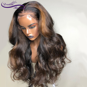 Image 2 - Highlight Lace Frontal Wigs 13x6 Deep part Lace front Wigs Glueless Lace Human Hair Wigs Ombre Wigs Brazilian Remy Wavy Wig