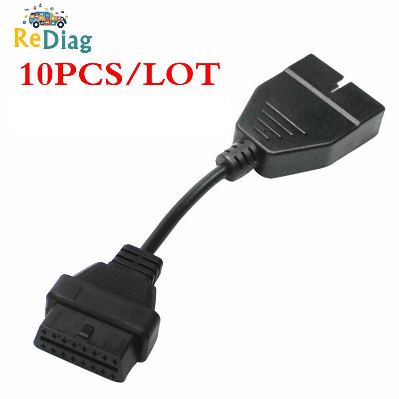 10PCS/LOT 2020 Newest OBD OBD2 Connector For GM 12 Pin Adapter To 16Pin Diagnostic Cable For GM 12Pin Vehicles Free Shipping