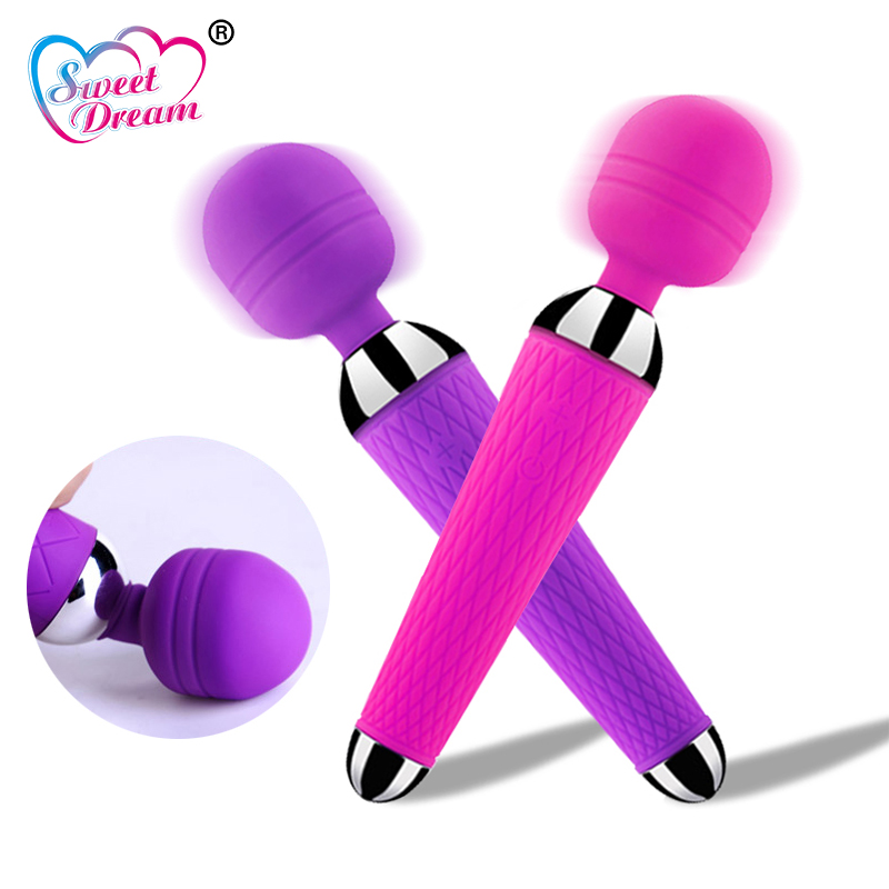 Sweet Dream Powerful <font><b>Magic</b></font> <font><b>Wand</b></font> AV Vibrator 10 Speed USB Charge <font><b>Toys</b></font> For <font><b>Adults</b></font> G-Spot Vibrating Dildo <font><b>Sex</b></font> <font><b>Toys</b></font> For Woman DW-605 image