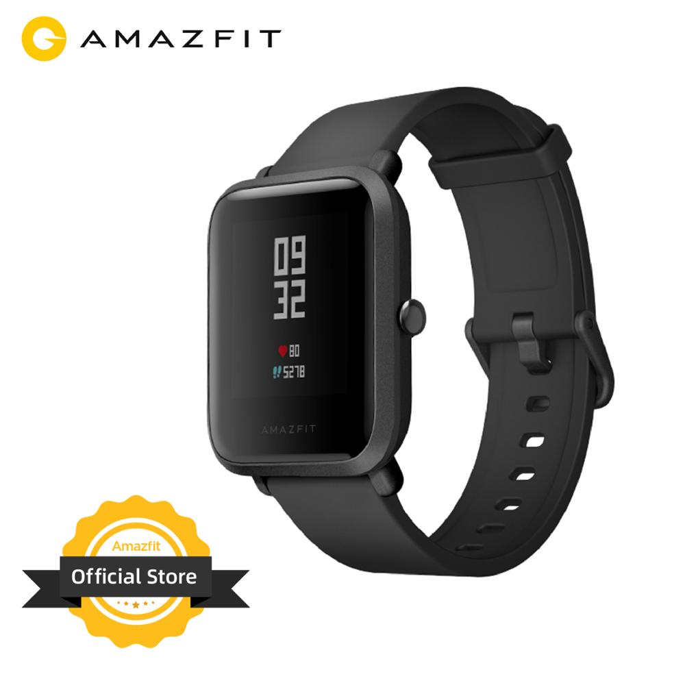 Новая глобальная версия Amazfit Bip Смарт-часы GPS GLONASS Smartwatch часы 45 дней в режиме ожидания для Android Phone IOS