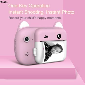 Mini aparat cyfrowy dla dzieci aparat do druku aparat cyfrowy aparat cyfrowy zabawka z kreskówki aparat fotograficzny prezent świąteczny aparat fotograficzny dla dzieci tanie i dobre opinie Wottler Z tworzywa sztucznego 3 lat Lithium Battery Unisex Printable kids Camera Edukacyjne 1080P HD Kids Camera Zabawki kamery