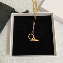 Collar y pendientes de Metal Vintage para mujer, conjunto de joyería para mujer, diseño geométrico grueso y pesado, chapado en oro Real de alta calidad