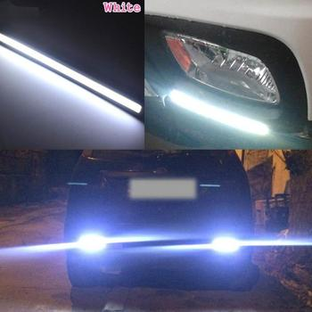 17CM Ultrafine Daytime Running Light Flexible Soft Tube Guide Car LED Strip White Turn signal Blue Waterproof image