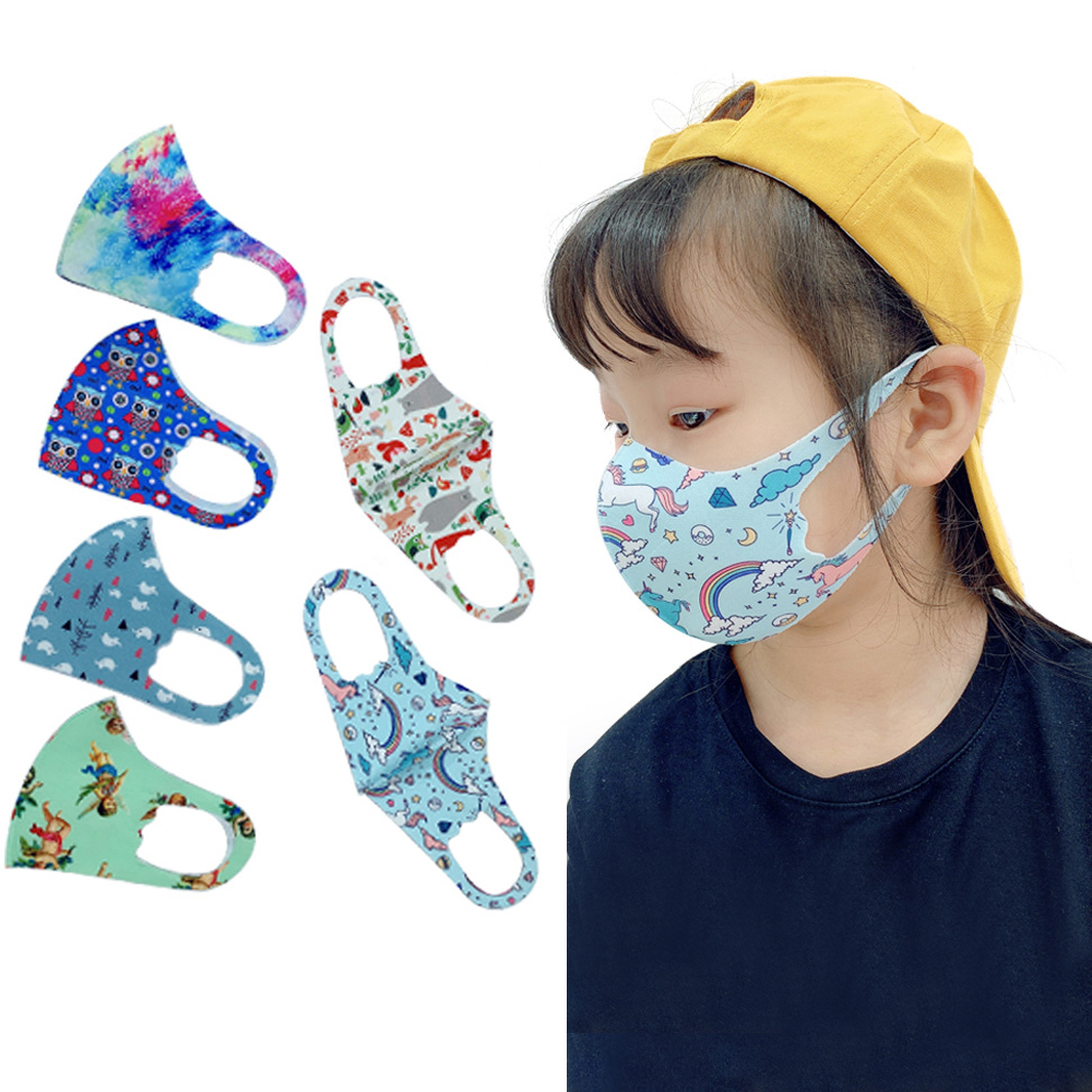 2020 New Mouth Mask For Kids Reusable Breathable Protective Children Kid Cartoon Cute PM2.5 Anti-Dust Mouth Face Mask