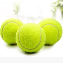1 шт. Желтые Теннисные Мячи, спортивные соревнования на открытом воздухе, Веселый крикет, Пляжная собака, высокое качество, Теннисный тренировочный мяч