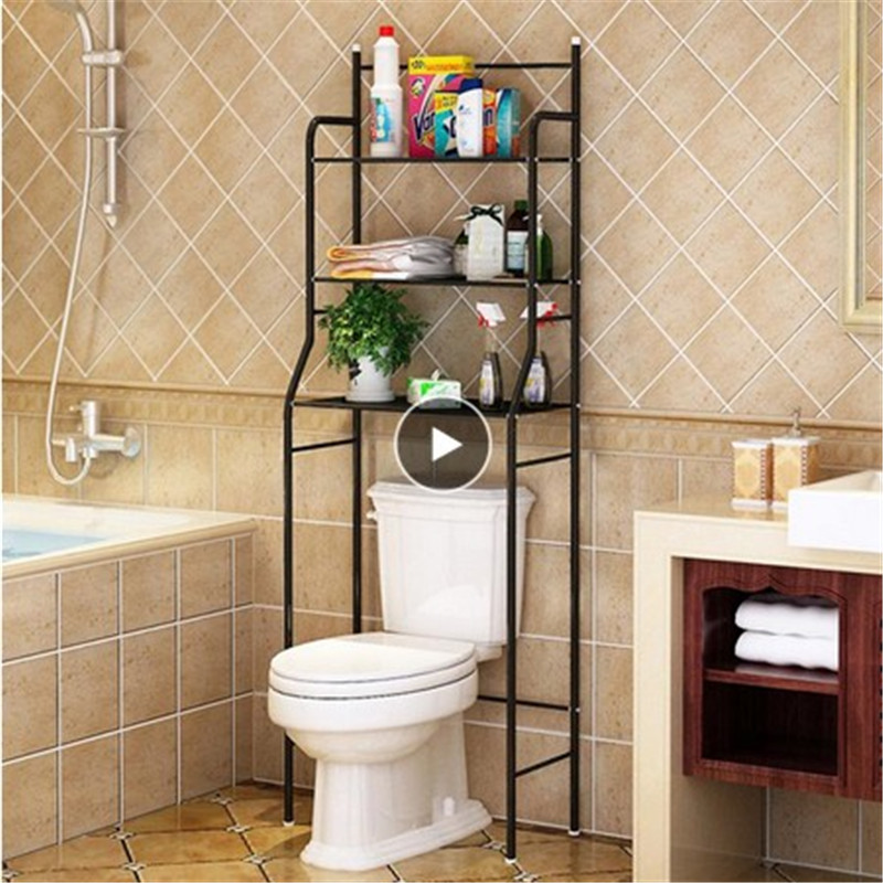 3 Tier Iron Toilet Towel Storage Rack Holder Over Bathroom Towel Shelf Kitchen Storage Rack Accessories Drop Shipping Toilet HWC