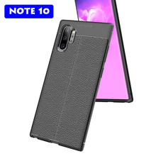 Soft Leather Case For Samsung Galaxy Note 10 Pro Luxury Silicone TPU Cover Plus Full