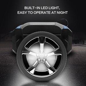 Image 3 - Fineed compresor de aire para coche, bomba de aire de 12v, Inflador de neumáticos de coche de 150PSI, 35L/Min, pantalla táctil automática con LED para automóvil