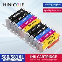 HINICOLE Compatible for Canon PGI-580 CLI-581 PGI 580XL CLI 580XL Ink Cartridge Pixma TS6150 TS6151 TR7550 TR8550 TS8150 TS8151