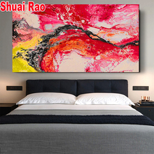 120x60cm 5D DIY Diamond Painting,Red Abstract Billow Diamond Embroidery Mosaic, Square/Round Diamond Art For New Year Gift,