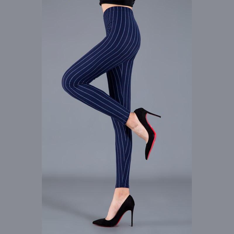 Women Plaid Leggings Fashion Printing Fitness Houndstooth Floral Stripe Dot Leopard Pure Black Trouser High Waist Pants 6
