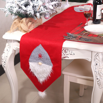 Christmas Dining Table Runner Cloth Flag Xmas Festival Party Banquet Decor Christmas Decorations for Home Camino De Mesa image