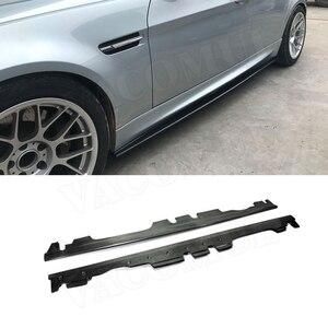 Saias Laterais em Fibra de carbono Trunk Guarnição Para BMW Série 3 E90 M3 Sedan 2008-2013 Guarda Bumper Car Styling