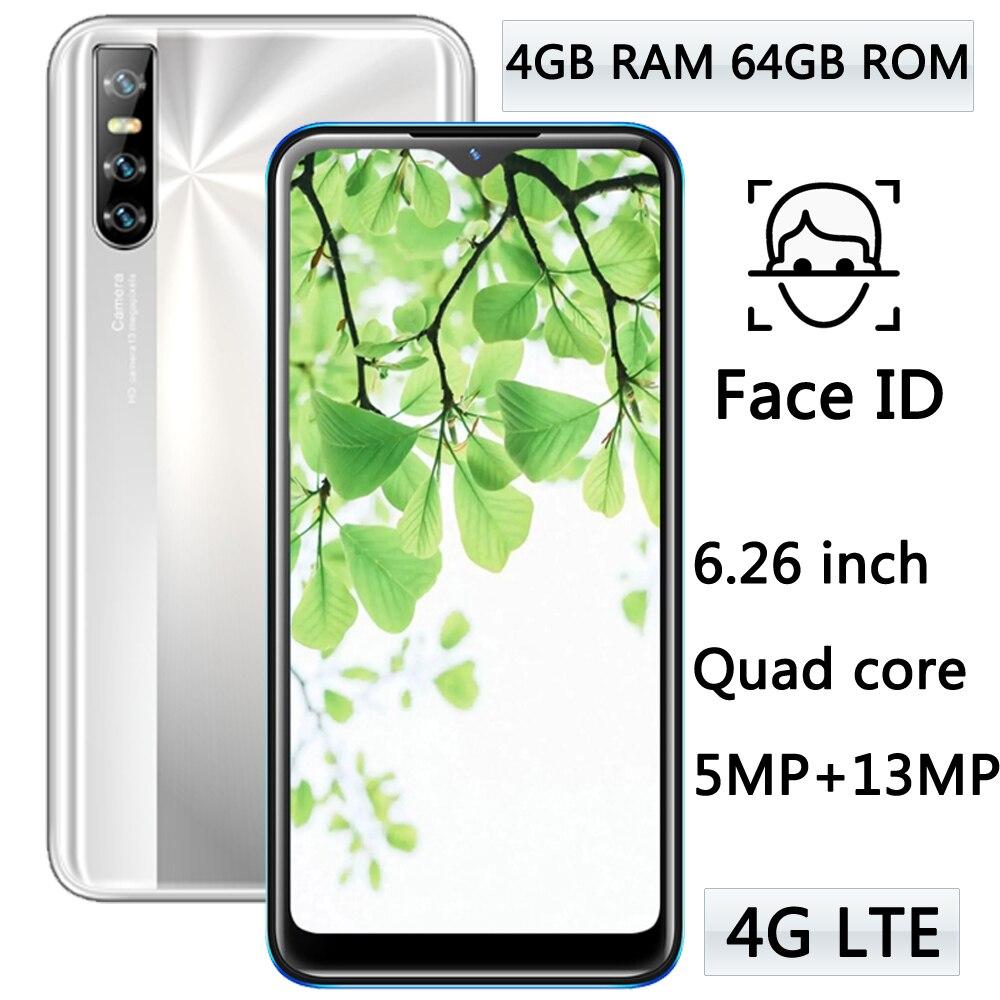 4 ядра Y8p 4 Гб Оперативная память 64 Гб Встроенная память 13mp HD Камера Android Face ID 4 аппарат не привязан к оператору сотовой связи мобильных телефон...