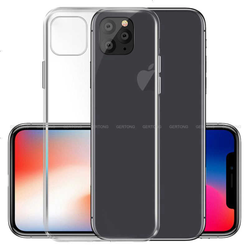 Coque TPU souple transparente Ultra mince pour iPhone X XR XS Coque Silicone transparente maximale iPhone 11 2019 11 Coque Pro Max