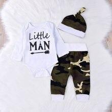 Noworodek niemowlę dziewczynki chłopcy list drukuj Romper kombinezon spodnie kamuflażowe kamuflaż Hairband stroje Dla nowożeńców