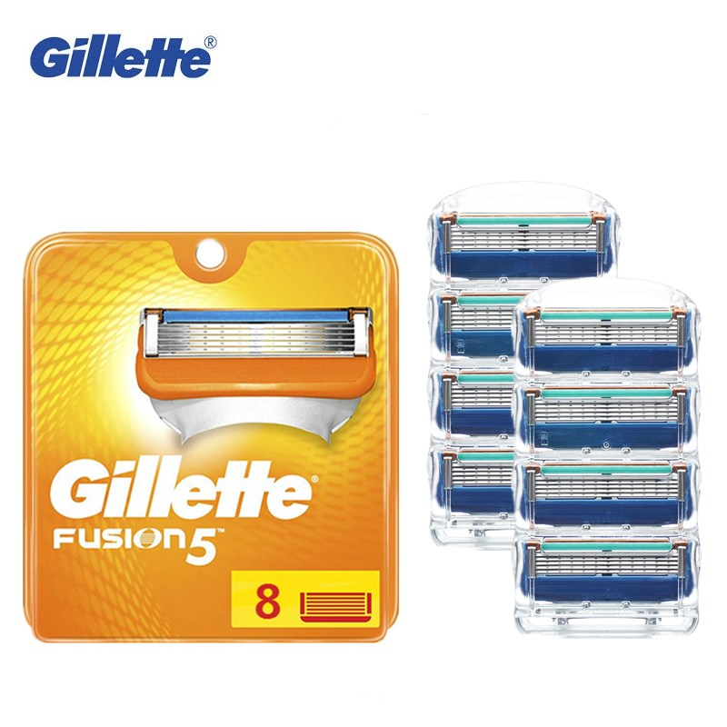8PCS Gillette Fusion Blade Men Shaving Replaceable Cassettes Shaving Fusion Shaving Cartridge Fusion Removable Razor Blades