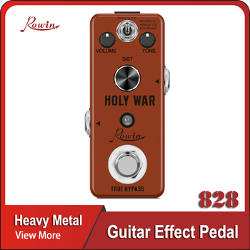 Rowin Analog Heavy Metal Distortion Pedal for Guitar True Bypass aroma abt 5 classic distortion guitar effect pedal warm smooth wide range distortion sound 3 modes aluminum alloy true bypass