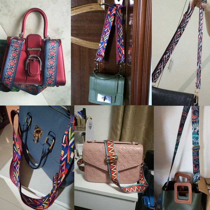 Bag Shoulder Strap Accessories Multicolor Adjustable Detachable Crossbody Handbag Replacement Bags Handle Buckle Belts Parts New