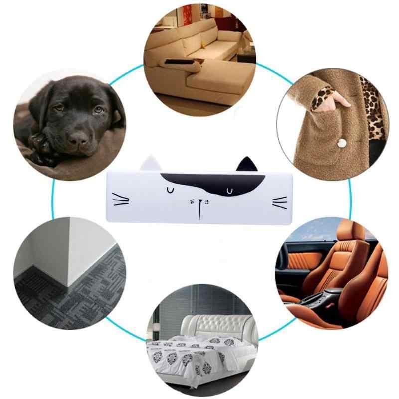 Desenhos animados dobrável pet cabelo mini removedor escova reutilizável limpador de pele do cão gato rolo tapete folhas poeira sucção escovas