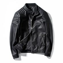 Spring Autumn Biker Leather Jacket Men Fur Coat Motorcycle PU Casual Slim Fit Ou