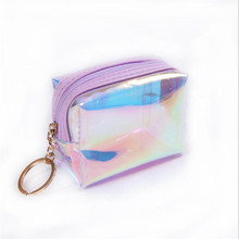 Ladies Mini Wallet Laser Coin Purse Jelly Transparent Female Bags For Women Clutch Short Money Package Hot