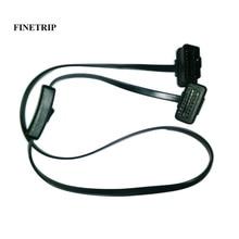 60 cm/1 m erkek kadın OBD2 kablosu anahtarı teşhis uzatma konektörü ELM327