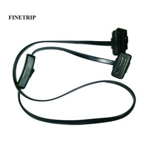 Image 1 - Câble OBD2 mâle à femelle de 60cm/1m, connecteur dextension de Diagnostic pour ELM327