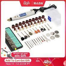 Ручка для гравировки HILDA, гравировальный инструмент 18 В, мини дрель с набором шлифовальных принадлежностей