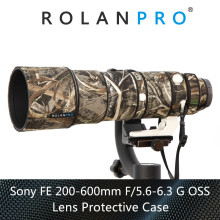 ROLANPRO Waterproof Lens Camouflage Coat Rain Cover for Sony FE 200 600mm F5.6 6.3 G OSS Lens Protective Case Nylon Guns Cloth