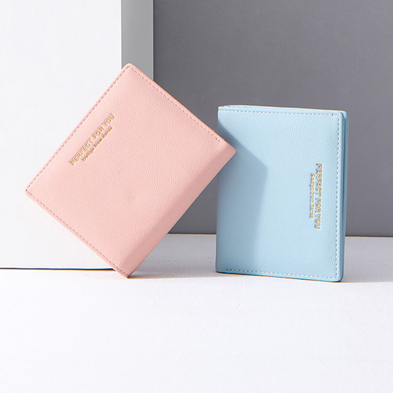 Colorful Women Short Wallet Small Cute PU Leather Wallets For Women Zipper Purses Portefeuille Female Purse Clutch Cartera Mujer
