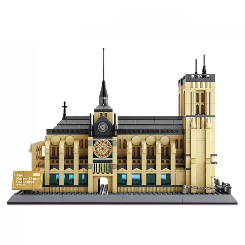 Image 2 - Cathedrale Notre Dame De Paris Building Blocks Lepinbrick Architecture Cultural Heritage Famous Church Symbol Construction BrickBlocks   -