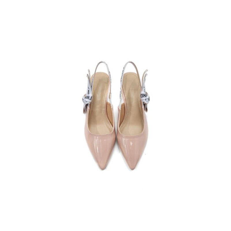 2019 mode sexy femmes chaussures maille broderie cheville sangles pompes talons hauts pointus dames creux chaussures de fête