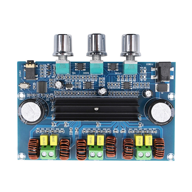 Bluetooth 5.0 TPA3116D2 Digital Power Amplifier Board 2.1 Channel 2*50W+100W Stereo Power Audio Class D Bass Subwoofer Amplifier 3