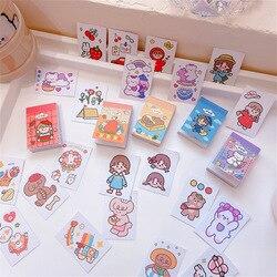 50 arkuszy/paczka Kawaii tektura Album z naklejkami Diy karteczki do terminarza podręcznik etykieta dekoracyjna naklejki Scrapbooking Label