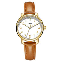 Easy Reader Women Watches Leather Strap 3ATM Waterproof Luminous Hands Elegant Simple Dial