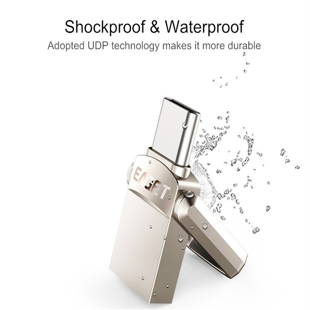 EAGET Metal Type-c OTG USB 3.0 U Disk Pendrive Flash Drive For Xiaomi Mobile Phone Tablet PC