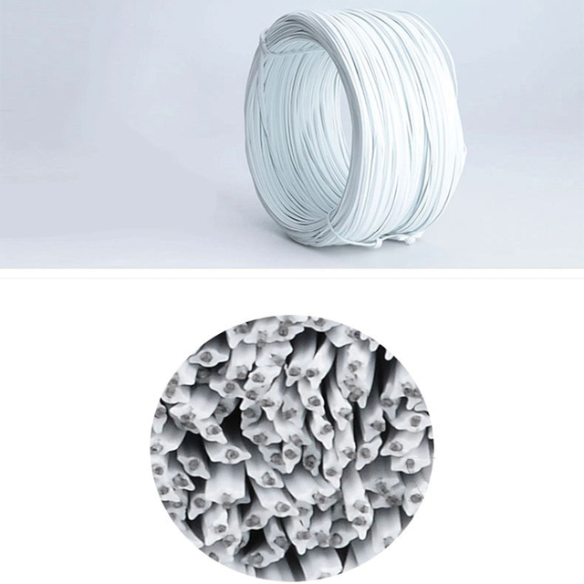 Galvanized wire Tie wire tie shaped for masks nose bridge strip galvanized tie wire oblate wire grape tie Medical mask wire